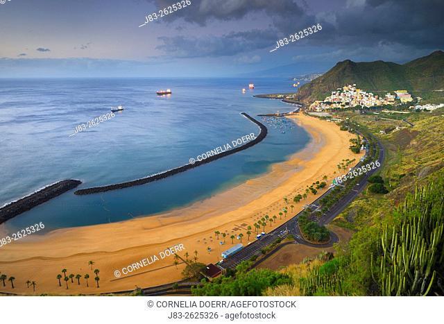 Las Teresitas, Beach, San Andres, Tenerife, Canary Islands, Spain