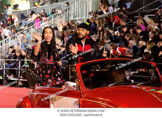 86th Annual Hollywood Christmas Parade in Los Angeles, California. Featuring: Asia Monet, Anthony Burrell Where: Los Angeles, California