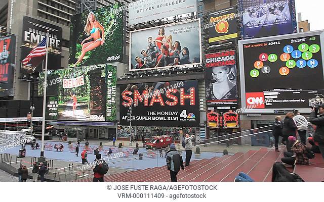 USA, New York City, Manhattan, Time Square