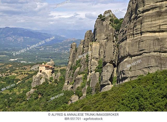 Meteora Monastery in Thessaly, Greece, Europe