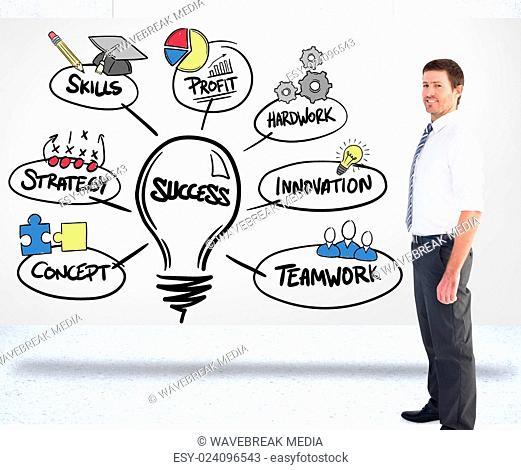 Composite image of a businessman