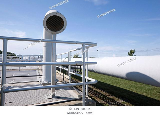 Odor control pipeline at a water treatment plant