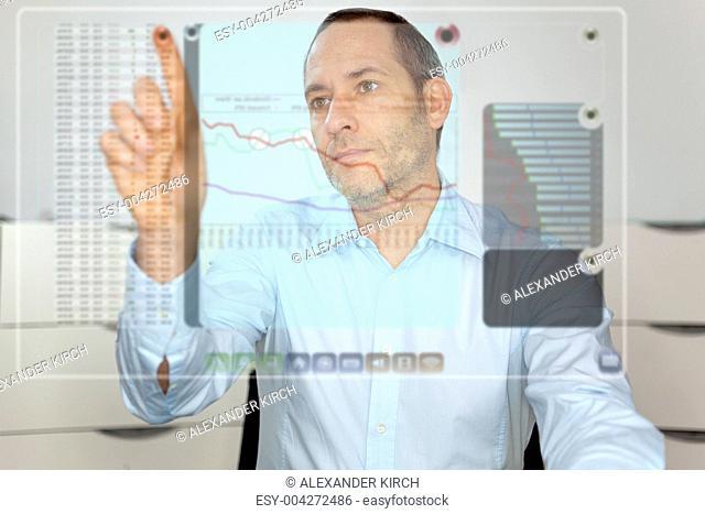 Futuristic LCD Panel - Financial content