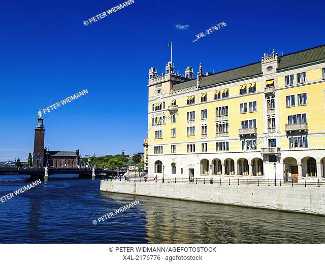 Stockholm, city view, Stadshuset, City Hall, Sweden