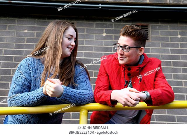 Teenagers chatting