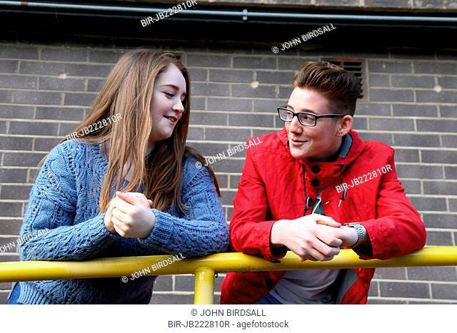 Teenagers chatting