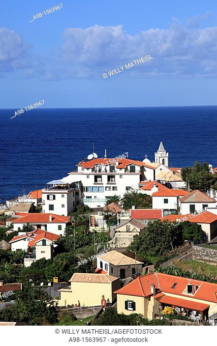 village Jardim do Mar at the Atlantic Ocean on the island Madeira, Portugal, Europe