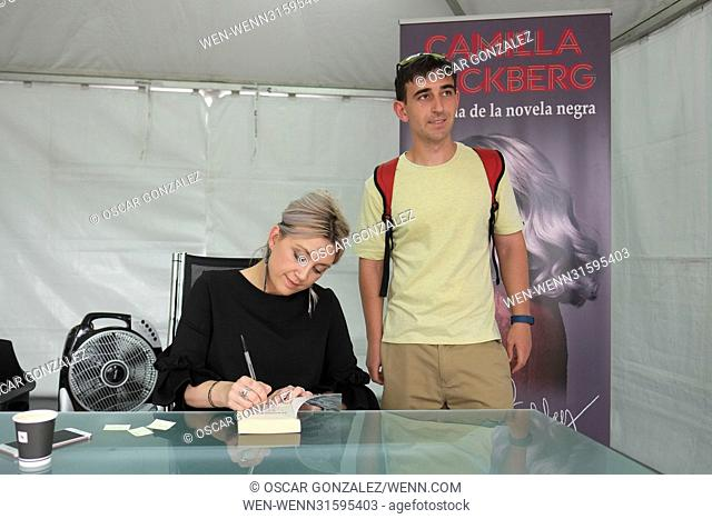 Camilla Läckberg signs copies of her book at Madrid Book Fair at El Retiro Park Featuring: Camilla Läckberg Where: Madrid
