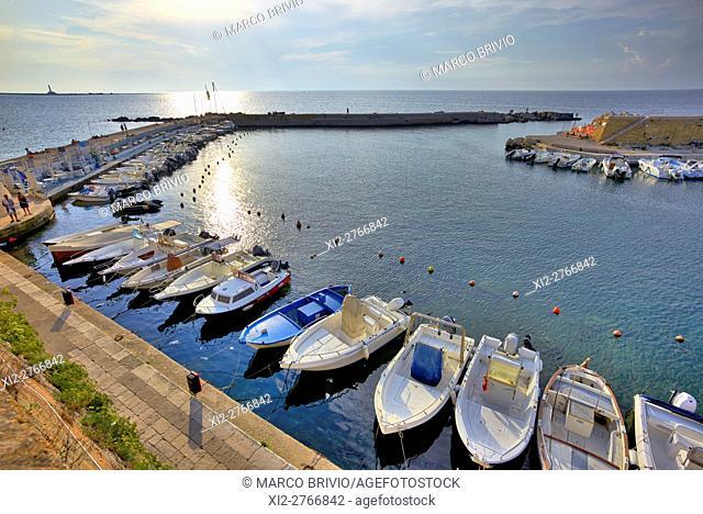 The seaport in Gallipoli, Apulia, Italy