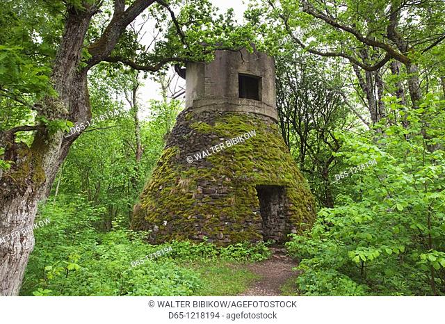 Estonia, Western Estonia Islands, Saaremaa Island, Sorve Peninsula, Saare, World War Two-era artillery base ruins