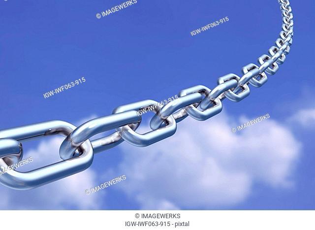 Chain against sky