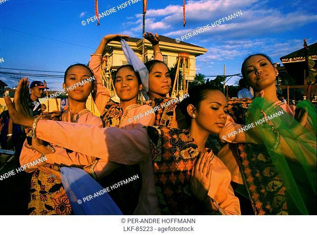 Dancers in Intramuros, Manila, Luzon Island, Philippines