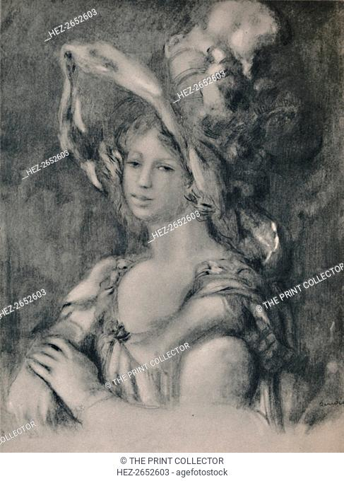'Half-Length Portrait of Dieterle', c.1899, (1946). Print after a painting, 'Mademoiselle Dieterle La Merveilleuse'. From The Etchings of the French...