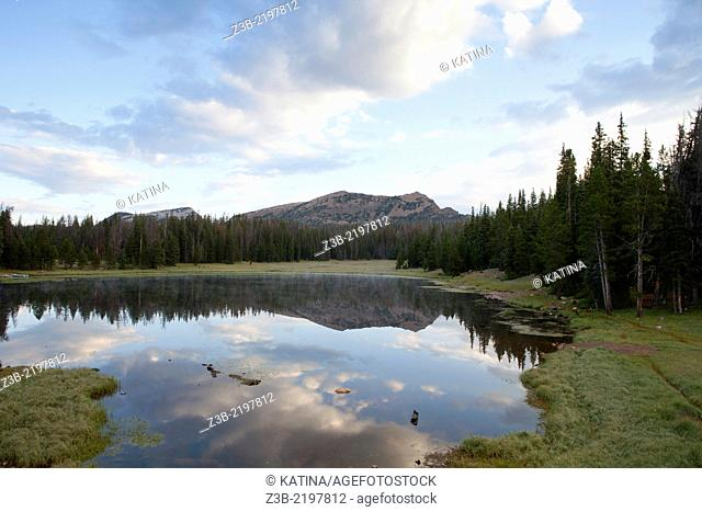 Early morning at Lilly Lake, Uinta-Wasatch-Cache National Forest, Utah, USA