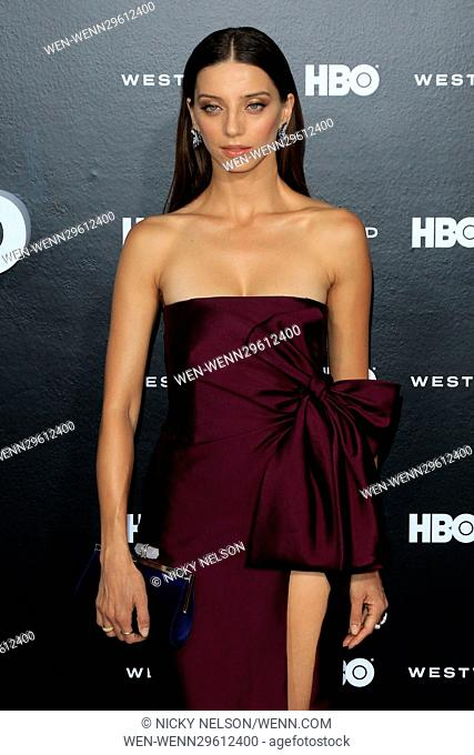 HBO drama series 'Westworld' Premiere Featuring: Angela Sarafyan Where: Los Angeles, California, United States When: 30 Sep 2016 Credit: Nicky Nelson/WENN