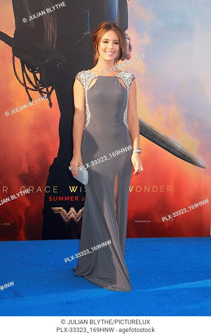 """Amy Pemberton 5/25/2017 World Premiere of """"""""Wonder Woman"""""""" held at the Pantages Theater in Los Angeles, CA Photo by Julian Blythe / HNW / PictureLux"""