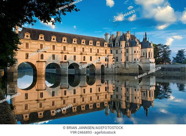 First light of morning on Chateau Chenonceau, Indre-et-Loire, Centre, France