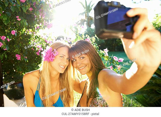 Girls taking a photo of each other