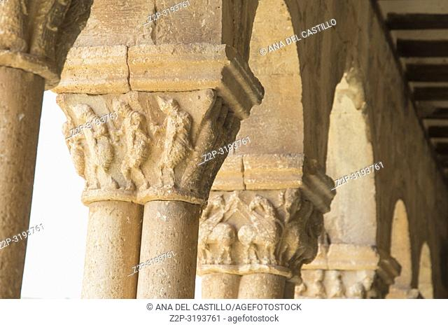 St Peters romanesque church in Caracena village in Soria province Castile Leon Spain