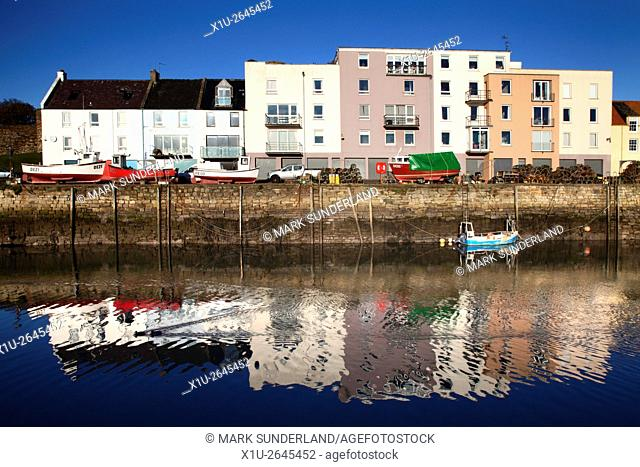 Sunny Morning at St Andrews Harbour St Andrews Fife Scotland