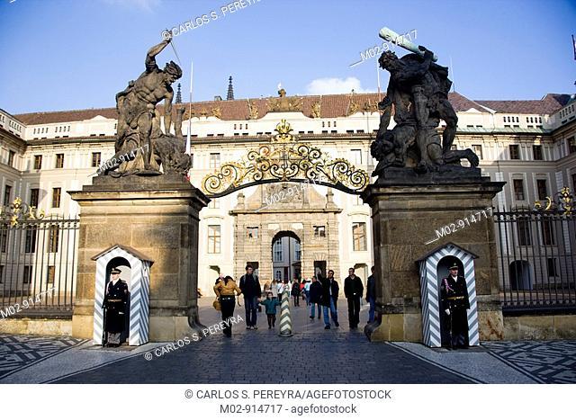 Entrance of the Prague Castle, Czech Republic