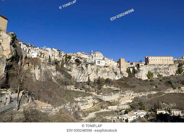 View of the city of Cuenca, in the province of the same name, in Castilla-La Mancha, Spain