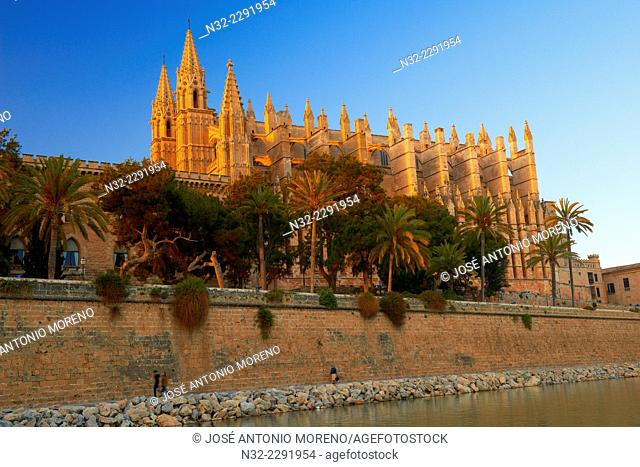 Palma de Mallorca, Cathedral, La Seu cathedral, Palma, Majorca, Balearic Islands, Spain, europe
