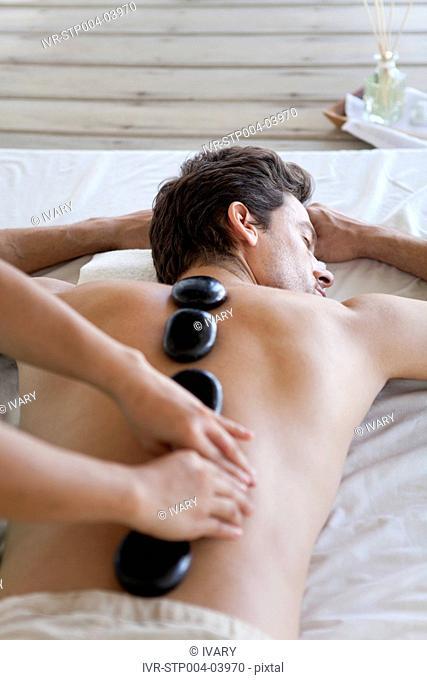 A man at a spa treatment