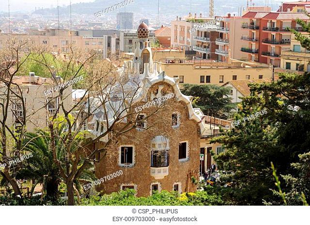House in Antoni Gaudis Park G�ell, Barcelona Spain