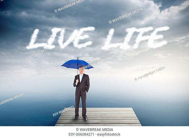 Live life against cloudy sky over ocean