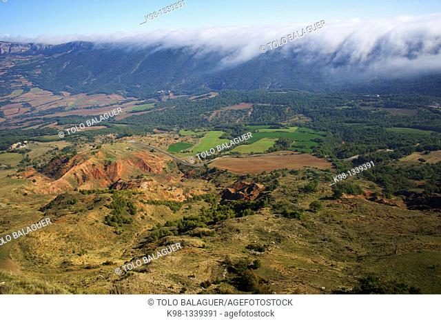 Toló Castle, XI century Rubies Montsec Lleida Pyrenees Mountains Catalonia Spain