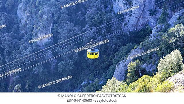 Cable car of Montserrat, Barcelona, Catalunya, Spain