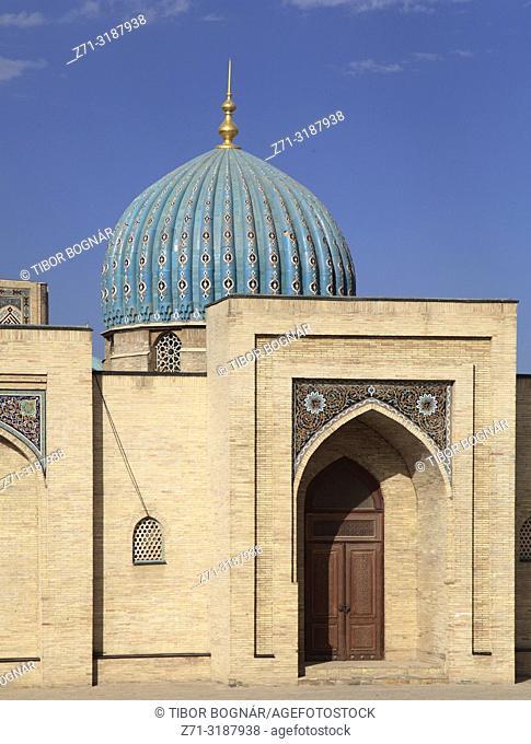 Uzbekistan; Tashkent, Hazrati Imam Complex, Moyie Mubarek Library Museum,