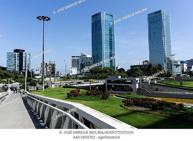 San Isidro district in Lima city. Peru