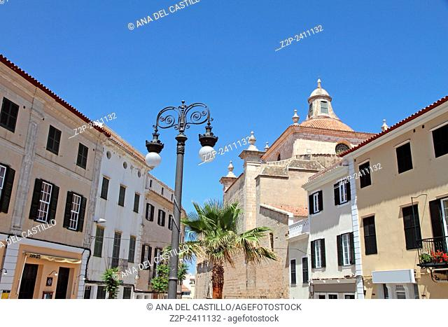 Mahon city in Minorca Spain