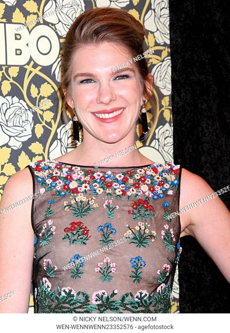 HBO Golden Globes 2016 after party at the Beverly Hilton - Arrivals Featuring: Lily Rabe Where: Los Angeles, California, United States When: 10 Jan 2016 Credit:...