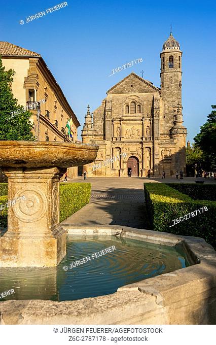 Chapel San Salvador, town Ubeda, Zona Monumental, UNESCO world heritage site, province Jaen, Andalusia, Spain