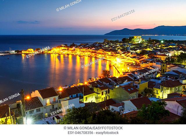 Picturesque Pythagorio town on Samos island, Greece.