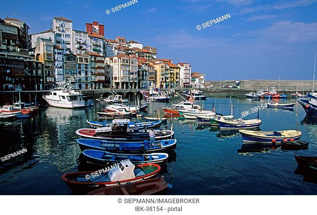 Spain Basque region - Bizkaia Bermeo harbour