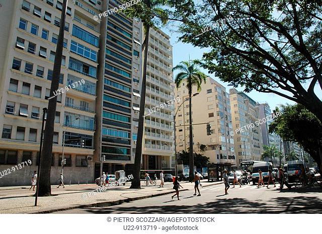 Rio de Janeiro (Brazil): flat-buildings at Praia do Flamengo
