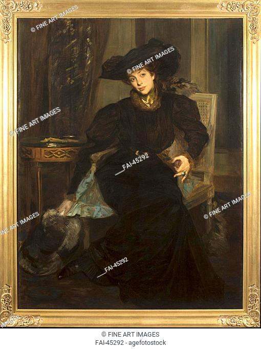 Élisabeth, Countess Greffulhe (1860-1952), née de Riquet de Caraman-Chimay by Blanche, Jaques-Èmile (1861-1942)/Oil on canvas/Modern/ca 1902-1904/France/Private...