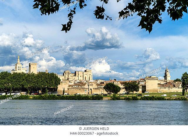 Palais Des Papes, Avignon, Bouche du Rhone, France France, Provence, Avignon