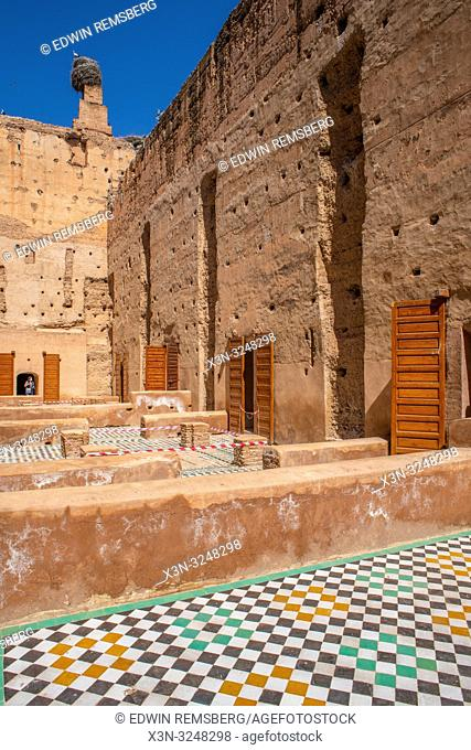 Ruins of living space of El Badi Palace, ' The Incomparable Palace,' Marrekech, Morocco