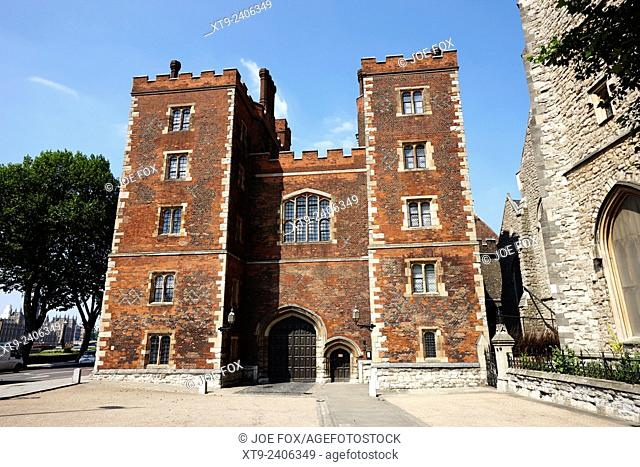 mortons tower lambeth palace London England UK