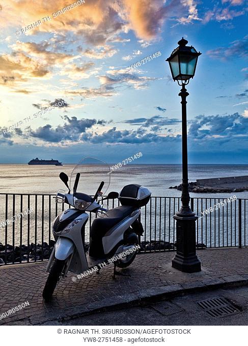 Motorcycle, Bay of Naples, Sorrento, Italy