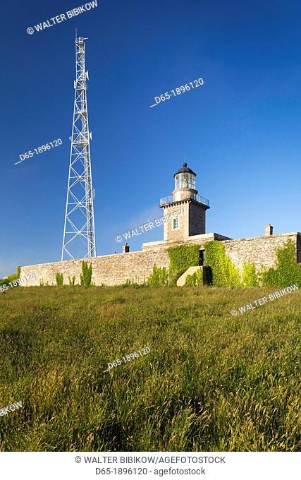 France, Normandy Region, Manche Department, Barneville-Carteret, Cap de Carteret lighthouse