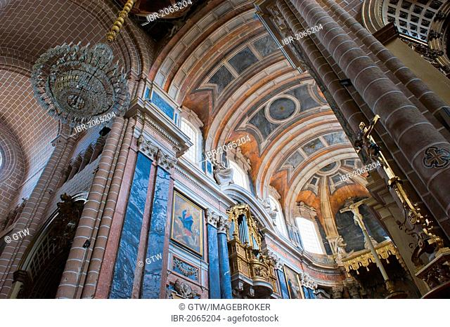 Gothic central nave, Se Cathedral, Santa Maria, Alentejo, Portugal, Europe, Unesco World Heritage Site