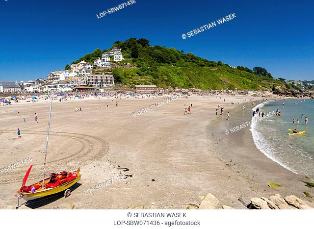 England, Cornwall, Looe. Looe beach in South Cornwall