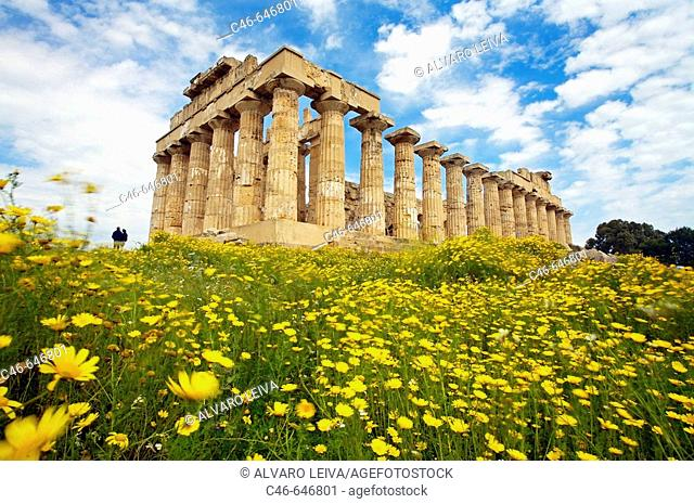 Ruins of Greek temple from seventh century BC. Province of Trapani, Selinunte, Sicily, Italy