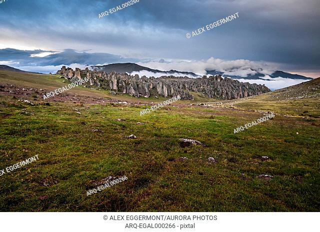 Scenic landscape with view ofHatunMachay, BosquedePiedra, Huaraz, RecuayProvince, Peru